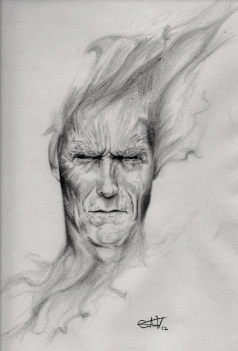 Clint Eastwood por CarlosVelasquezArt